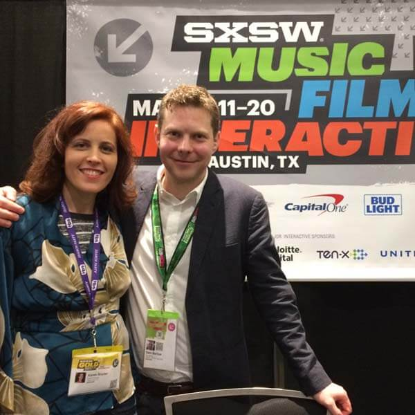SWSX speaker, karen snyder and sam barlow, full motion video games, FMV